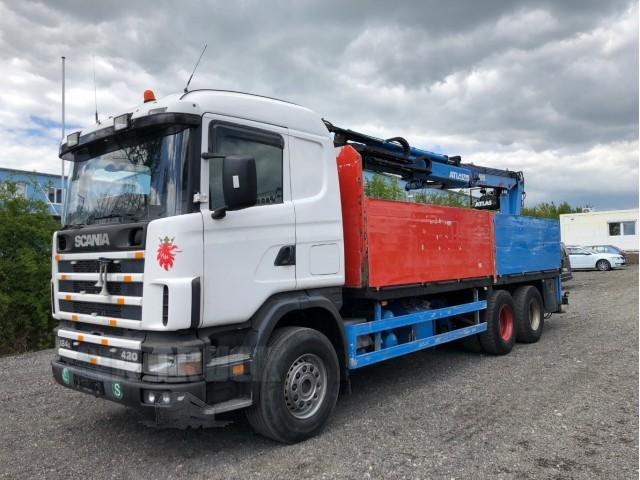 Scania R124 420L 6x4 - Hydraulická ruka Atlas
